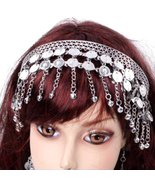 BellyLady Belly Dance Tribal Metal Headband With Silver Coins, Gypsy Egy... - $7.37