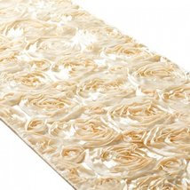 Koyal 15 by 116-Inch Satin Rose Embroidered Table Runner, Ivory - $19.55
