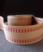 """AK-Trading Polyester Blend Burlap Webbing Ribbon with Stitching, 1.5"""" In... - $14.60"""