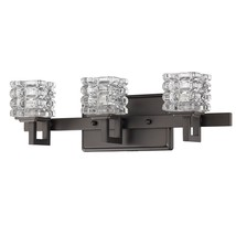 "Caralie ORB Bronze & Crystal Wall Sconce Bathroom Vanity Light Lamp 18""W... - $245.03"