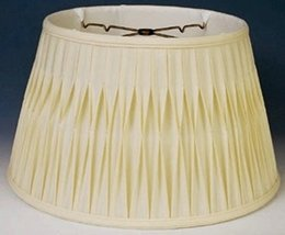 "Floor Lamp Shade Sizes 17-19"" Wide Cream or White Finest Quality Smock P... - $158.39"
