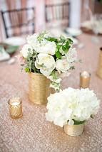 """Wholesale Shinny Elegant Champagne Sequin Table Runner 12""""*72"""" (30cm*180cm) - $19.55"""