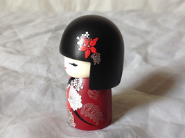 Nabuko Believe Kimmi Mini Doll Black Hair and Red Flowered Dress Asian Style image 2