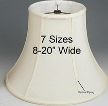 "Classic Bell Lamp Shade by Lamp Shade Pro 8-16"" Wide Cream or Ivory, Fin... - $54.44"