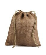 """12"""" x 14"""" Burlap Jute Favor Party Gift Bags with Drawstring (Pack of 10)... - $33.27"""