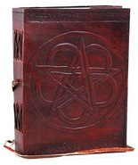 """PENTACLE LEATHER BLANK BOOK  - HANDCRAFTED  Unlined 5"""" x 7""""""""  240 Pages - $26.50"""