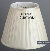 """Box Pleated Lamp Shade by Lamp Shade Pro 14-18"""" Wide, Cream or White Fin... - $79.19"""