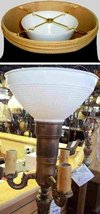 """White Reflector Bowl Torchiere Glass Lamp Shade 6-10""""W (2.25"""" & 3"""" Fitte... - $59.99"""