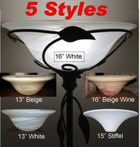 """Torchiere Glass Lamp Shades For Floor Lamps, Lamp Shade Pro Sizes 13-16""""... - $98.99"""