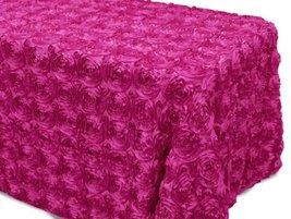AK-Trading Tablecloth 54 x 96-Inch Rectangular Rose Grandiose Rosette Ta... - $39.15