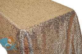 AK-Trading BLUSH Sequin Rectangular Tablecloth, Rain Drops Sequin Taffet... - $97.95