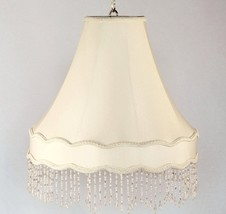 Victorian Gallery Bell Swag Lamp Crystal Beaded Fringe Exclusively by La... - $316.79