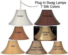 """Coolie Bell Swag Lamp Exclusively by Lamp Shade Pro, 16"""" Wide 7 Colors, ... - $128.69"""