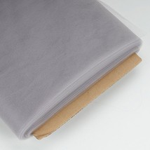54 Inch Nylon Tulle 40 Yards in 30 Colors Perfect for Wedding Decoration, Silver - $15.63
