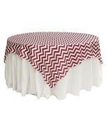 "AK-Trading 72"" x 72"" Inches L'Amour Satin Zig Zag Chevron Tablecloth Tab... - $21.51"