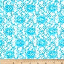 Raschelle Lace Teal Fabric - $9.02