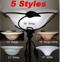 Torchiere Glass Lamp Shades For Floor Lamps by Lamp Shade Pro 5 Styles 1... - $98.99