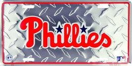 "Philadelphia Phillies Diamond 6"" x 12"" Embossed... - $6.95"