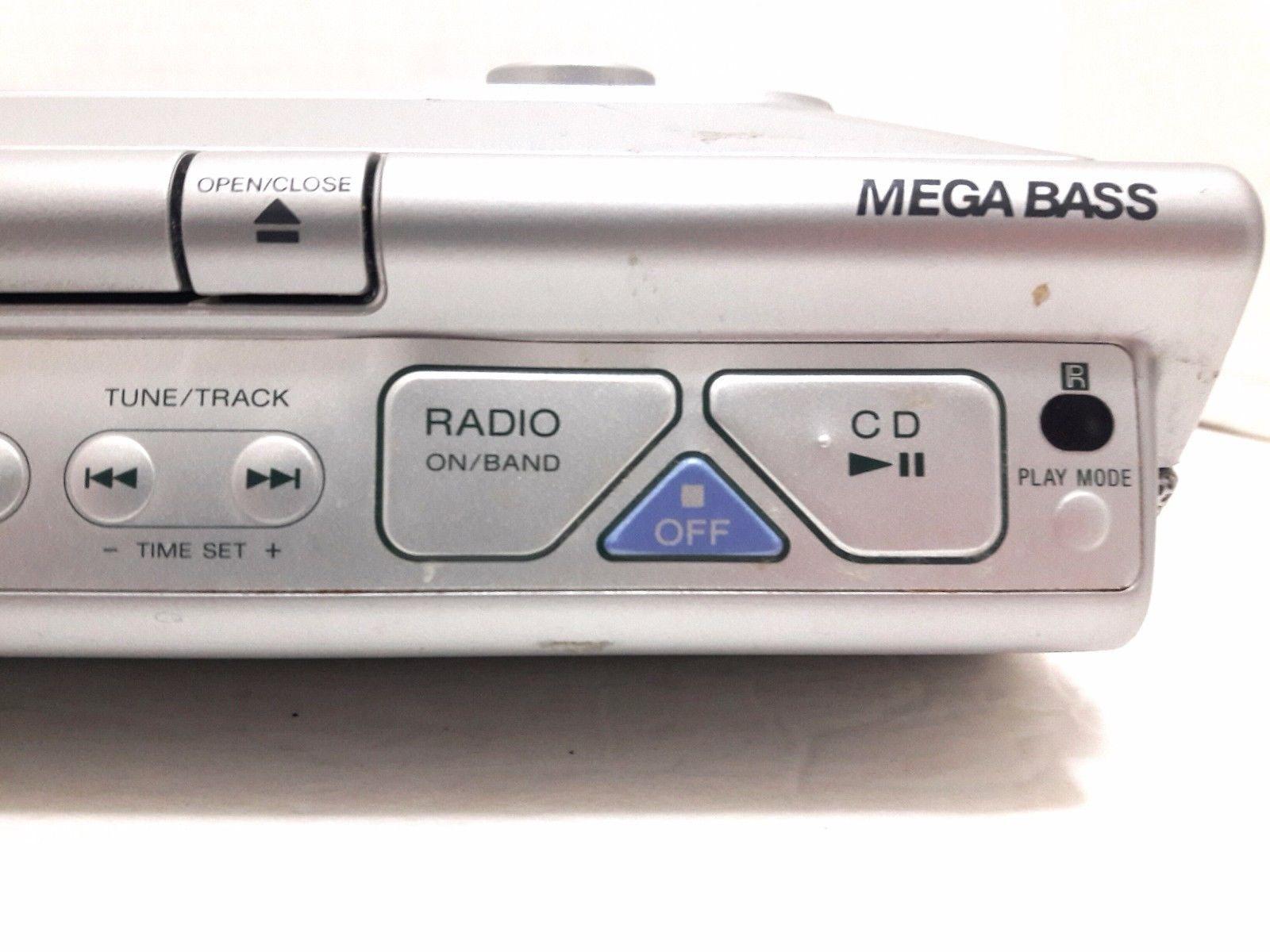 Sony Icf Cd543rm Under Cabinet Radio Spacesaver Cd Clock