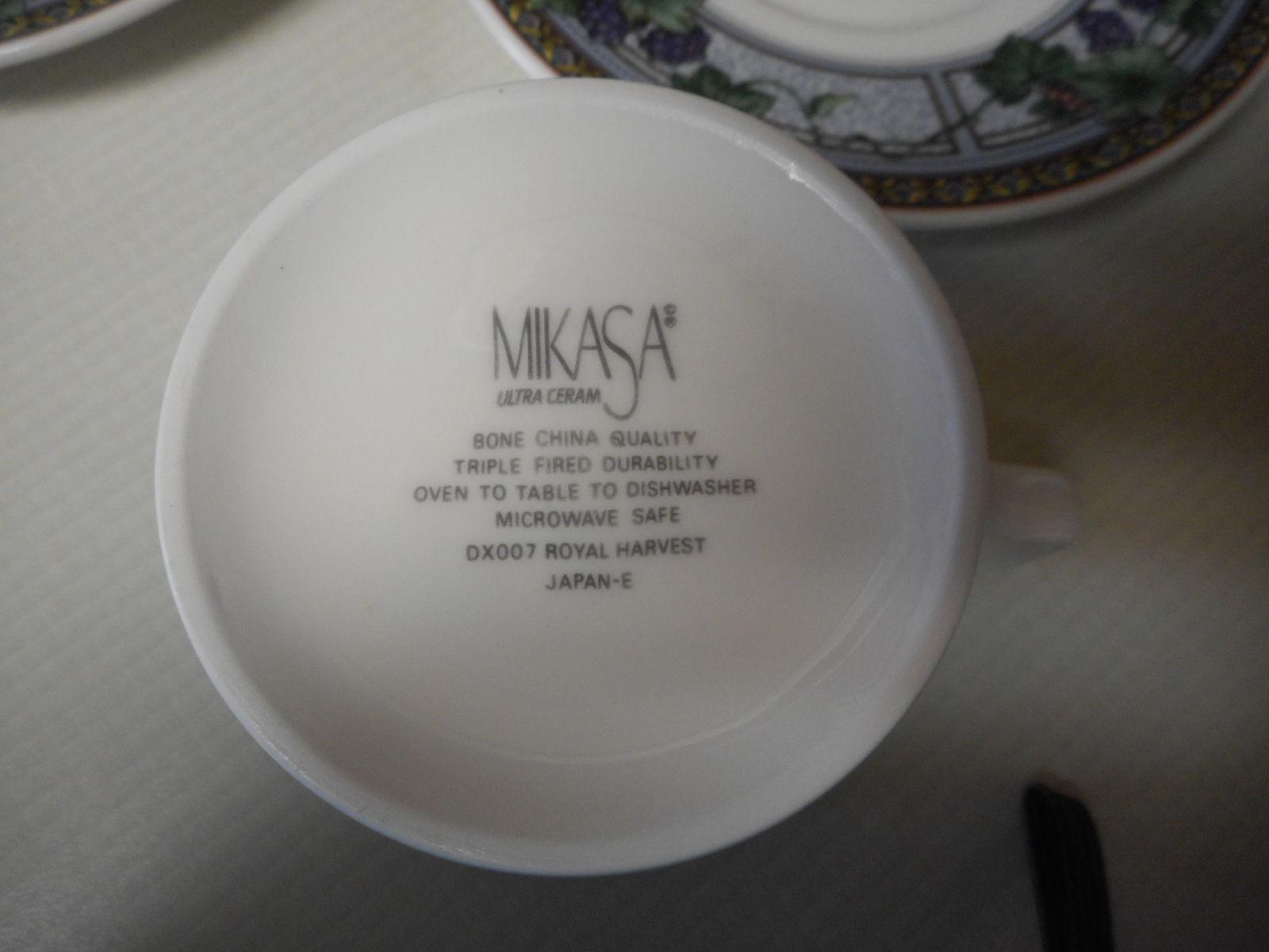 Mikasa Royal Harvest Grapes ~ 13 Piece Set Cups Saucers & Creamer
