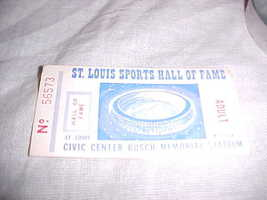 VINTAGE ST LOUIS SPORTS HALL OF FAME CIVIC CENTER TICKET STUB - $4.99