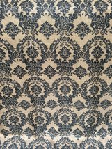 LA Linen Faux Burlap Damask Printed Fabric / 59-Inch Wide / Sold by the yard. - $14.65