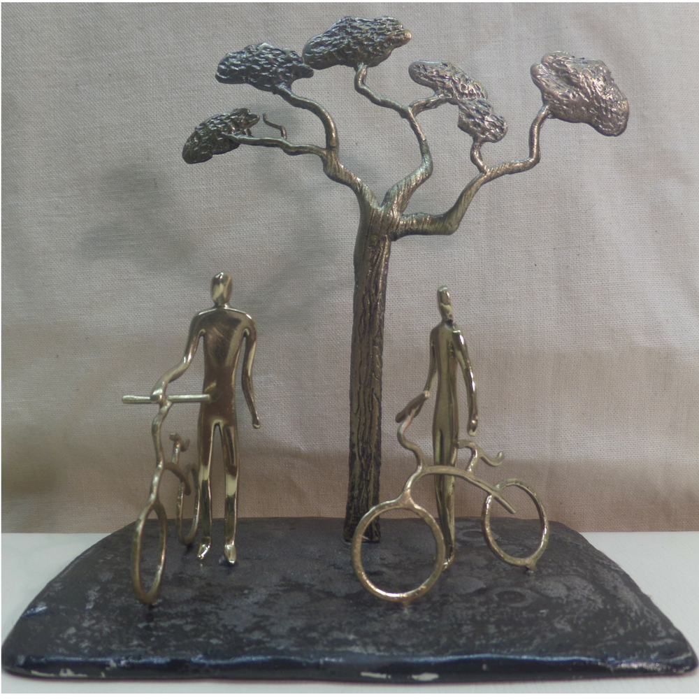 Small Sculpture Art Bronze Figures Couple With Bicycle For Home Decorators Catalog Best Ideas of Home Decor and Design [homedecoratorscatalog.us]