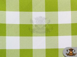 """Poly Poplin Checkered Fabric OLIVE / 58"""" Wide / Sold by the yard - $8.24"""