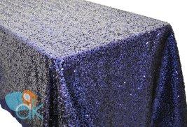 AK-Trading ROYAL BLUE Sequin Rectangular Tablecloth, Rain Drops Sequin T... - €92,33 EUR