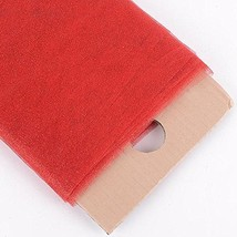 """54"""" Inch X 10 Yards Premium Glitter Tulle Fabric Bolt (Red) - $17.64"""