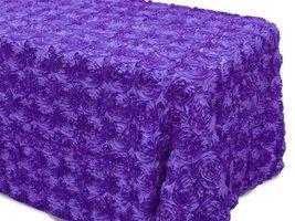 AK-Trading Tablecloth 54 x 120-Inch Rectangular Rose Grandiose Rosette T... - $48.95