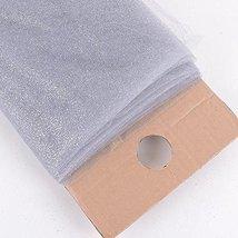"54"" Inch X 10 Yards Premium Glitter Tulle Fabric Bolt (Silver) - $17.64"