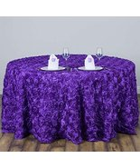 AK-Trading Tablecloth 108-Inch Round Rose Grandiose Rosette Tablecloth T... - $97.95