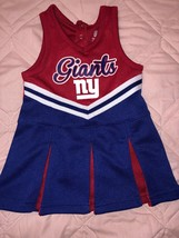 NFL TEAM APPAREL NEW YORK NY GIANTS TODDLER GIRLS CHEERS DRESS SIZE 12M. - $11.40