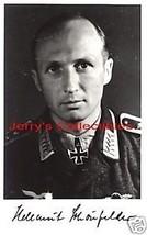 Helmut Schonfelder signed photo.Luftwaffe Ace. - $37.00