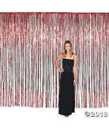 Large Red Fringe Door Curtain 12x8  - $24.24