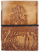 Hand Painted Tree of Life Leather Journal Diary Notebook Men Women Small... - $25.16