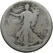 1916D Walking Liberty Half Dollar 90% Silver Coin Lot# A 409