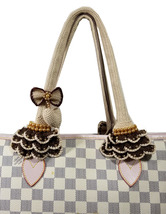 Crochet handle covers for Louis Vuitton Neverfull PM handbag - $52.00
