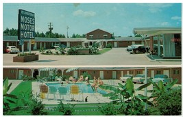 Moses Motor Hotel, Monroe, Louisiana Postcard - $12.82