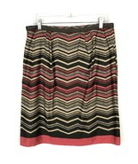 Ann Taylor LOFT Women Skirt Size 8 Brown Stripe Design Lined Zipper 100%... - $17.35