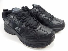 Skechers Soft Stride Mavin Slip Resistant Relaxed Fit Mens Work Shoes Sz 7 M (D)