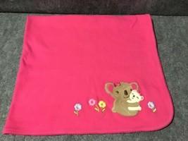 Gymboree Baby Koala Mom Baby Blanket Pink Blanket w/ Flowers - $47.52