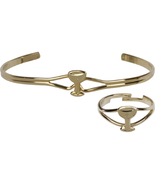 Communion Chalice - First Communion Bracelet & Ring Set - Gold Plated - $29.99