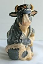 1994 Enesco Highway Holsteins Biker Cow Figurine - $33.35