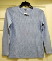 TALBOTS Woman's S Long Sleeve Crew Neck Sweater Light Blue Pullover  - $34.15