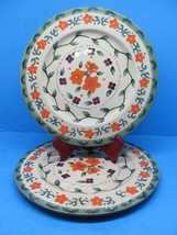 """Style Eyes By Baum Brothers  Round Tuscan Floral 10.5"""" Dinner Plates Set... - $57.82"""