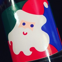 Vintage 70s Graphic Santa Christmas cocktail lowball glassware image 4