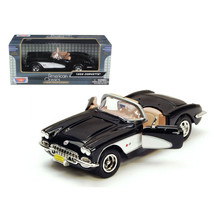 1959 Chevrolet Corvette Black 1/24 Diecast Model Car by Motormax 73216bk - $35.63