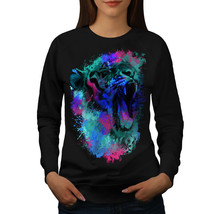 Colorful Tiger Art Animal Jumper Beast Head Women Sweatshirt - $18.99